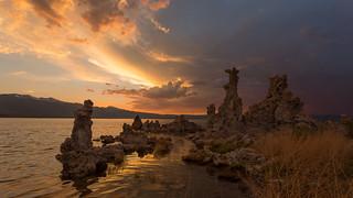 Golden Sunset at Mono Lake