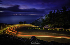 Luminosity Curve (davidglynlloyd) Tags: road light car wales northwales llithfaen nantgwrtheyrn quarry night 30second longexposure lightpainting trails curve d750 tokina1116 cymru