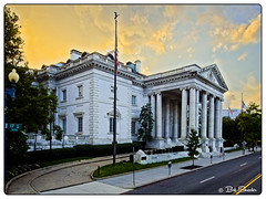 DAR Headquarters (Bob Shrader) Tags: districtofcolumbia olympuspenf unitedstates f4 m43 mft microfourthirds mirrorless photoborder photoedge photoframe raw olympusmzuikodigitaled12100mmf40ispro 1200sec200iso washington architecture sky clouds flag trees on1photoraw2018 daughtersoftheamericanrevolution dar headquarters lut preset postprocessing usa tree
