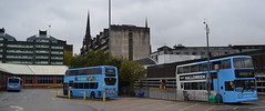 All three National Express Coventry liveries - under a grey sky (paulburr73) Tags: