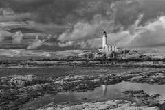 Turnberry Lighthouse (Scotland in Infrared) Tags: 720nm ayrshire ir turnberry coast coastal coastline converted infrared lighthouse shore shoreline