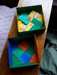 Square Bow Knot box, inside (ulmerigel) Tags: origami tomokofuse origamiboxes box