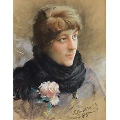 7485--fausto-zonaro-1854-1929-ritratto-di-giovane (skaradogan) Tags: