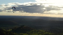 Autumn soaring at Frocester 2 (richiegibbs15) Tags: dmctz80 paragliding