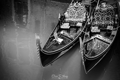 Double Trouble (ESTjustPHOTO - Elias S Tilavgi) Tags: gondolas italy venice canal blackandwhite black mono monochrome street photography photographing landscapephotography cityscape city canals