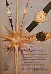 Wear Stars on Your Wrists (saltycotton) Tags: holidays christmas gifts wristwatch watch time jewelry readersdigest vintage magazine advertisement ad 1957 1950s