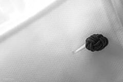 Elegance (sdupimages) Tags: minimalisme cufflinks tissue tissus bouton boutonsdemanchette noirblanc blackwhite texture style vêtement clothes button perfectmatch macro macromondays bw nb