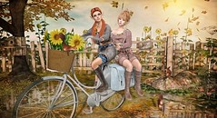 It Takes Two to Tandem (Duchess Flux) Tags: thechapterfour shinyshabby uber hairfair posefair go fabia nexor deetalez catwa eudora3d cheveux skinnery lelutka luanesworld jian keke ionic thelookingglass secondlife sl fameshed