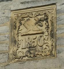 Building Plaque, Stavanger, Norway (RV Bob) Tags: stavanger norway architecture plaque 1850 building