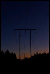TZ III (*TimeBeacon*) Tags: powerlines twilight sundown sunset minimal minimalistic silhouettes sky tb dusk
