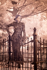 cemetery beauty (robpolder) Tags: 2018 rvt cemetery hana infrared model woman nikon d800