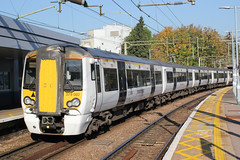 Abellio Greater Anglia . 379002 . Bishop's Stortford Station , Hertfordshire . Wednesday 10th-October-2018 . (AndrewHA's) Tags: hertfordshire bishopsstortford railway station abellio greater anglia class 379 bombardier derby electrostar emu electric multiple unit 379002 1b40 liverpool street stansted airport express passenger service