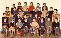 Class photo (theirhistory) Tags: child kid boy teacher jumper shirt trousers shoes wellies jeans rubberboots
