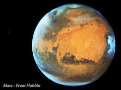 Mars as seen from Hubble Space Telescope (TerraForm Mars) Tags: mars hubble nasa jpl esa phobos
