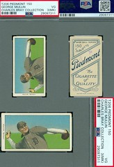1909-11 / T206 White Border - GEORGE MULLIN (Pitcher / Pinch Hitter) - Detroit Tigers (PSA Certified) (1909 / Piedmont 150 / Factory 25 Back) Tobacco / Cigarette Baseball Card / Horizontal (#339) (Treasures from the Past) Tags: t206 tobaccocard tobacco 1909 1911 cigarette cigarettecard americantobaccocompany whiteborder whiteborderset baseballcard lithograph whiteborderbaseballset t206baseballset hof halloffame baseballhalloffame georgemullin detroittigers psacertified pitcher pinchhitter horizontal