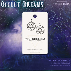 .miss chelsea. occult dreams - epiphany exclusive (Coral Lacey | Miss Chelsea) Tags: sl secondlife mesh fashion womens new earrings jewellery pentagram epiphany misschelsea gacha