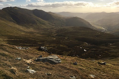 Away from the maelstrom (OutdoorMonkey) Tags: alltaghlinnebhig creagleacach cairngorms peak summit munro hill hills hillside mountainside mountain landscape valley grass grassland moor moorland scotland outside outdoor nature natural scenic scenery countryside afternoon