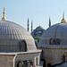 Vista de la Mezquita Azul desde Hagia Sophia. Estambul, Turquía.