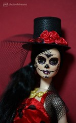 dia de los muertos (photos4dreams) Tags: photos4dreams p4d photos4dreamz barbie doll lea asian dress mattel toy barbies girl play fashion fashionistas outfit kleider mode lee tabletopphotography diademuertos mexico dayofthedead handpainted ooak