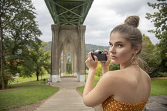 Alexis_StJohns-0034 (Aaron A Baker) Tags: girls oregon women teenagers model portraits cathedral park portland autumn fall yellow dress leafs alexis hoffman