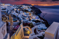 Dawn in Santorini (Jos Buurmans) Tags: architecture citylandscape cityscape cyclades dawn europe greece morning oia santorini southaegean southerneurope thira town towns travel