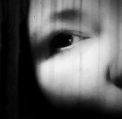 Mania (Southern Darlin') Tags: me self selfportrait dark depression bipolar healing loss eye woman blackandwhite