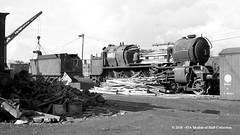 c.10/1964 - Sculcoates Yard, Hull, East Yorkshire. (53A Models) Tags: britishrailways lner thompson b163 460 61418 steam withdrawn drapers scrapyard hull eastyorkshire train railway locomotive railroad sculcoates