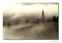 Burdignes A1 Sep1 Bd Sg Rd1 IMG_7771-5 (thierrybarre) Tags: sunrise sunset brume brouillard village clocher landscape paysage église fantôme campagne matin graphisme noiretblanc ambiance mood