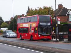 GAL EH283 - SN18KNC - ELTHAM HILL - SAT 6TH OCT 2018 (Bexleybus) Tags: eltham high street south east london shopping centre goahead go ahead adl dennis enviro 400 mmc eh283 sn18knc tfl route 321