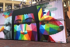 HUBweek (3) (AntyDiluvian) Tags: boston massachusetts downtown cityhallplaza governmentcenter hubweek 2018 container freightcontainer shippingcontainer art mural wallpainting