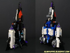 LEGO Transformer Overlord: Megajet (alanyuppie) Tags: lego transformers masterforce powermaster decepticon cybertron combiner blackbird military jet