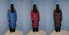 My warm coats (Warm Clothes Fetish) Tags: coat slave girl sweat hot warm fur boots hat niqab hijab torture