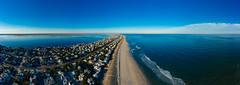 Barrier Island (reclaimednj) Tags: panorama sky clear surfcity newjersey unitedstates us longbeachisland mavic2pro ocean nj water aerialphoto oceancounty