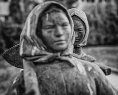 Sharp Super Takumar 50/1.4 at f/4 (Sebastian Pier Filip) Tags: canon 5d takumar supertakumar50f14 supertakumar5014 f4 blackandwhite bw monochrome communistart statues art bulgaria sofia envy statue