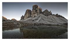Tre Cime di Lavrado (Brian L55) Tags: landscape dolomites trecime mountains sunset lake rocks