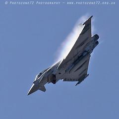 0132 Typhoon (photozone72) Tags: yeovilton yeoviltonairday airshows aircraft airshow aviation jets canon canon7dmk2 canon100400f4556lii 7dmk2 raf typhoon raftyphoondisplay eurofighter