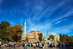 Hagia Sophia (M. Nasr88) Tags: turkey islam islamicarchitecture architecture istanbul building church mosque religious landmark historic nikon d750 nikond750 travel travelphotograhy tourism sky blue clouds