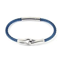 ★ Idée cadeau pour votre Homme  Nouveau bracelet pour homme cable acier bleu et chrome. ▶︎ https://ift.tt/2NpJBS5 (Bijoux Bijoux) Tags: bijoux enfant argent