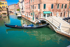 Many locals still use gondolas to get around as they fit under the bridge walkways.  For centuries, the gondola was a major means of transportation and the most common watercraft within Venice.