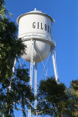 Gilbert Arizona Water Tower - 2054 (AZDew) Tags: townofgilbert watertower gilbertaz gilbertarizona bluesky historic preserved watertowerpark