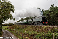 Squadron's Storm (Ben_Broomfield) Tags: 257 squadron bulleid storm swanage 462 34072