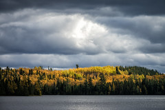 'Above all ... ' (Canadapt) Tags: lake clouds fall autumn storm trees keefer canadapt