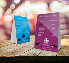 Table Tent Card (Asmi Tank) Tags: layoutdesign carddesign sticker flyer flyerdesign graphicdesign posterdesign card