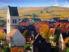 Mittelwihr (Haut-Rhin, F) (pietro68bleu) Tags: alsace vignoble vignes village clocher église niddecigogne