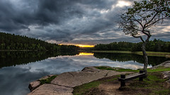 Sjön Ommen, Tindered (tonyguest) Tags: lake ommen sjön tindered sweden sverige tonyguest water sunset clouds trees reflections scenic landscape
