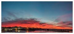 Ryde (frattonparker) Tags: afsnikkor28300mmf3556gedvr btonner isleofwight lightroom6 nikond810 raw frattonparker panorama ryde solent sky sunset pier