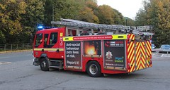 PO60 KWS (Ben Hopson) Tags: greater manchester fire rescue service gmfrs volvo jdc appliance pump engine mobilising open mobilise call callout turnout responding blue lights sirens twotones 60 plate po60 kws po60kws