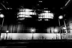 271018 Urban space (soyokazeojisan) Tags: japan kobe bw street light night people city blackandwhite monochrome digital olympus em1markⅱ 918mm 2018