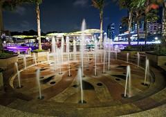 Riverfront Fountain II (fantommst) Tags: lisaridings fantommst singapore river front riverfront water fountain night lights carke quay