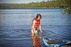 Camping at Suttle Lake (pete4ducks) Tags: cropped suttlelake 2018 summer nature camping mady madelyn on1pics oregon child swimming blue trees linkcreekcampground raw reflection 500views